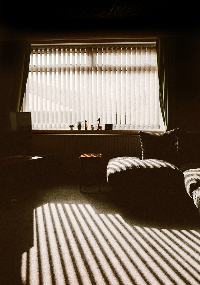 Cool room with blinds